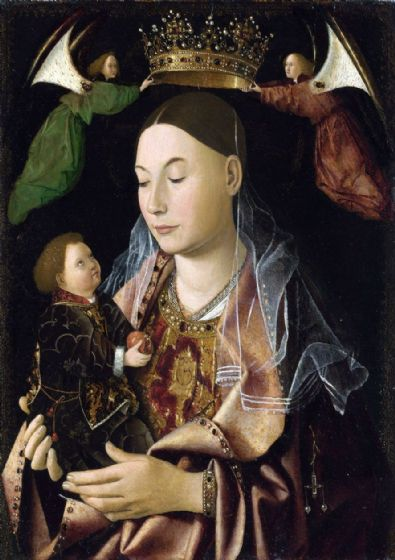 Da Messina, Antonello: Madonna with Child. Fine Art Print/Poster. Sizes: A4/A3/A2/A1 (00431)